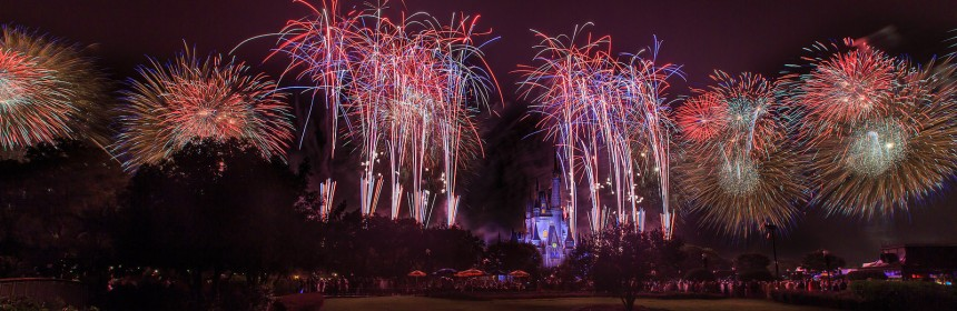 photo of fireworks over Cinderella's castle at Disney World