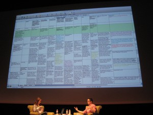 """original story spreadsheet for ""Are You My Mother?"""" by Flickr user Karen Green"